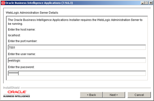 Installing Oracle BI Apps 7.9.6.3 (3/6)