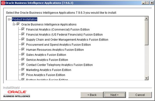 Installing Oracle BI Apps 7.9.6.3 (4/6)