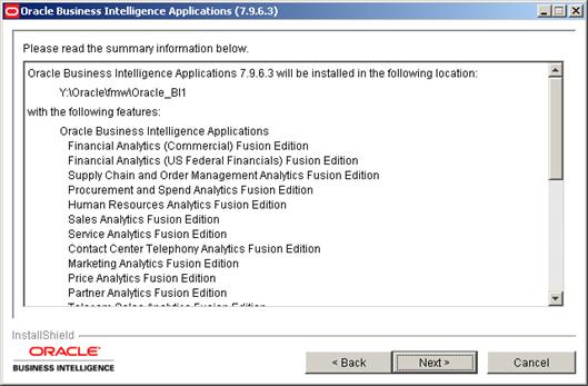 Installing Oracle BI Apps 7.9.6.3 (5/6)