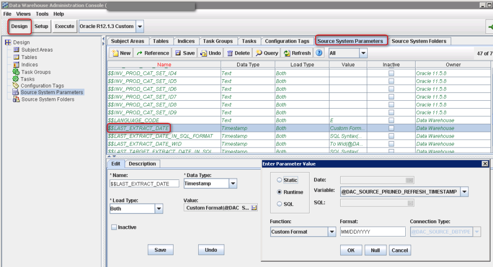 Oracle BIA - Making the Full / Incremental Load work (2/6)