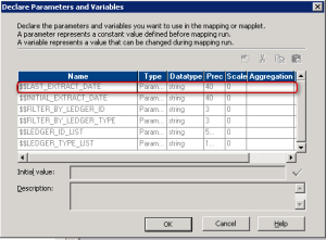 Informatica - Variables and Parameters - $$LAST_EXTRACT_DATE