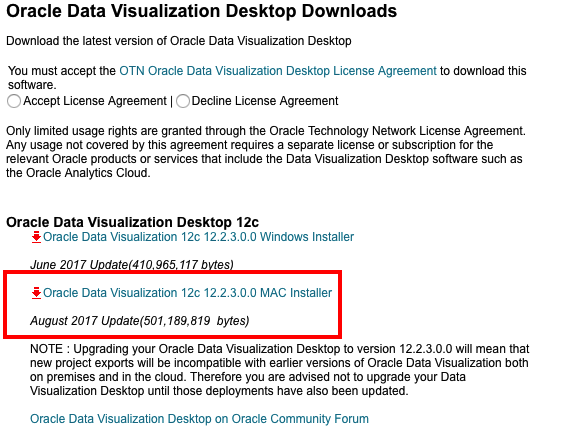 Oracle Data Visualization Desktop for Mac is now available for download