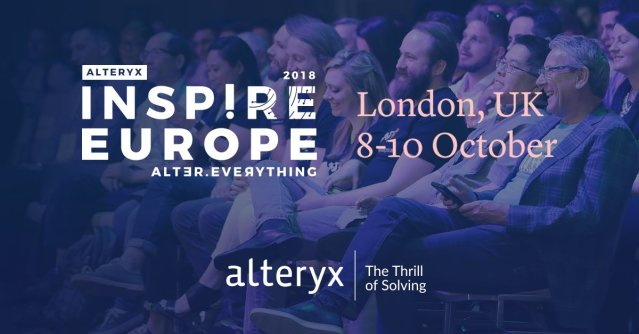 Looking back at Alteryx Inspire Europe2018